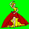 Famous flamenco dancer coloring