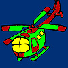 Fast vacation helicopter coloring