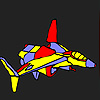 Weird space aircraft coloring Game.