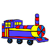 Colorful long wagon coloring