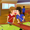 Ruben and Robert are lovers and they are playing the 8 ball pool game. Both are in different tables but they are also playing kissing and dating games. Help them to exchange kisses without being noticed.