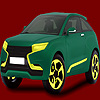 Dull green car coloring