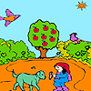 Lily in the apple garden coloring