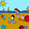 Best friends at the beach coloring A Free Customize Game