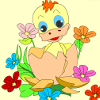 Kid`s coloring: Duckling is free coloring game.