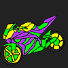 Fascinating and fast motorcycle coloring