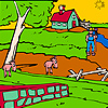 Animals big farm garden coloring