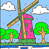 Big windmill coloring