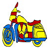 Blue long motorcyle coloring