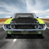 Rev up your V8 engine and blast around the tracks in your favorite classic American Muscle Car!
