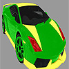 Bright colorful car coloring