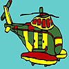 Big military helicopter coloring