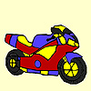 Fast city motorcycle coloring