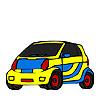 Mini personal car coloring
