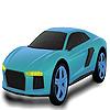 Fast sky car coloring Game.