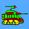 Modern military tank coloring