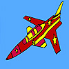 Fast military jet coloring