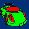 Concept racing car coloring Game.