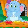 Cute Jumbo Care is a brand new free online game for little kids. In this awesome game you have to take care for this cute elephant Jumbo. This game has 4 levels that you have to pass, in every level you have different tasks that you have to accomplish in order to make this cute elephant happy. In the first level Jumbo is playing and jumping in the nature but she fall and you have to clean her up. In the second level Jumbo is playing in the water and under the waterfall. After playing you have to clean her up. But it falls sick playing in the waterfall and now you have to give her some medication. In the third level Jumbo is very hungry and you have to give her some vegetables in the restaurant. At the fourth level Jumbo is going to the music party and she likes to play on the instruments. Give her the instruments she likes and make sure to fill her happy meter. Use your mouse to play this awesome game and have much fun!