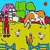 Farmer and big animal garden coloring