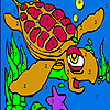 Tired water turtle coloring