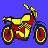 Fast concept motorcycle coloring