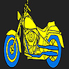 Long city motorcycle coloring
