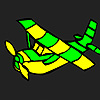 Planet aircraft coloring