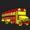 Long school  bus coloring
