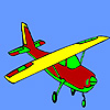 City little airplane coloring