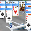 Addictive solitaire free game in new interpretation. You are in the airport and are waiting for your next flight. The best pastime is the solitaire game. This classical and popular patience is known as double Klondike (because you are playing with two cards decks). The game goal is to build the eight foundations up in ascending suit sequence from Ace to King with cards of identical suit. On the tableau, cards are played in descending order, alternating colors. When there is no more moves use stock. Having finished the game successfully you shouldn`t forget to publish your best result to see your name at the Top of the table.