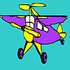 Planetary aircraft coloring