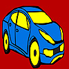 Blue city car coloring