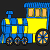 Fast city locomotive coloring