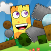 Cute and funny physics based puzzle game. Your task is to delete blocks without letting the plank fall on the spikes!