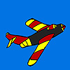 Hot Flying jet coloring