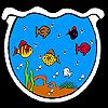 Fishes in the big aquarium coloring
