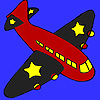 Black wings airplane coloring Game.