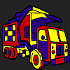 City transport truck coloring