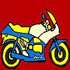 Fantastic motorbike coloring