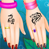 Create a chic and colorful look for your hands with jewelry, nail polish, and tattoos that reflect who you really are! If you have a twin, you don`t have to worry people confusing you anymore! With this nail editor and a few quick photos, you can be free from your twin with your own super cute nails!