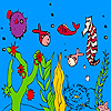 Deep ocean fish and seahorse coloring