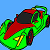 Grand Racing car coloring
