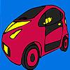 Mini future car coloring