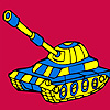 Modern military tank car coloring Game.