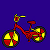Colorful handmade bike coloring