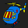 Blue hot helicopter coloring Game.