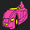 Fast futuristic car coloring Game.
