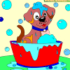 Kid's coloring: Charming Puppy
