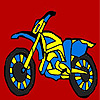 Fast blue bike coloring